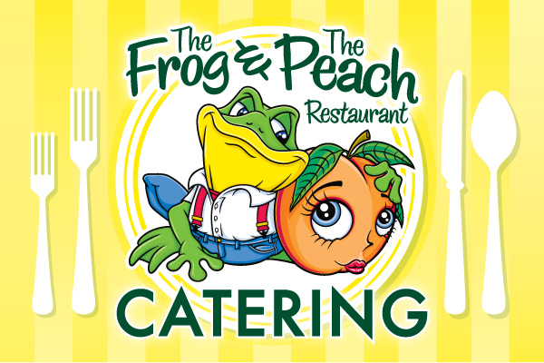 Frog and Peach Catering Postcard Front2015-01